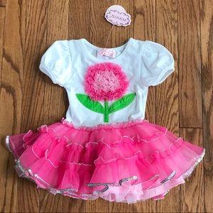 🔥NWT! Girls Popatu tutu dress size 24 months